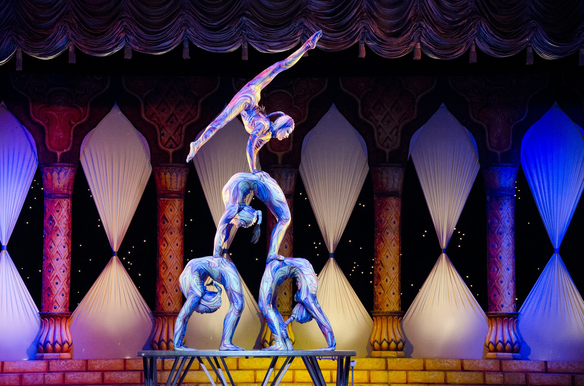 Acrobats, entertainers, circus, performers